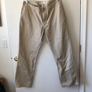 GAP Original Flat Front Khakis.  35x32 gently used
